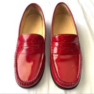 Cole Haan Red Patent Leather Penny Loafers Size 7
